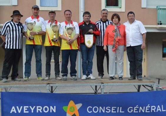Les champions: Florent Lartigue, Gérard Fabre et Didier Goncalvès (P.Réquistanaise)