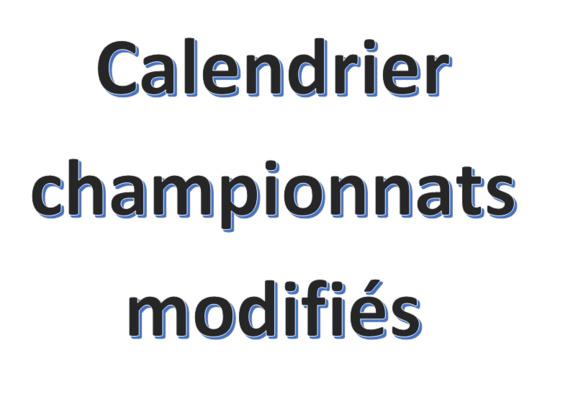 Calendrier départemental modifié