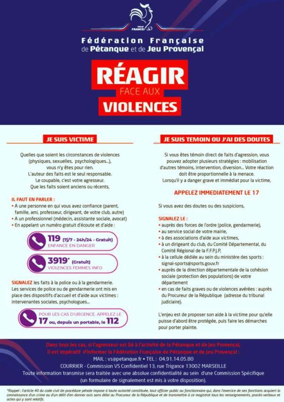 Réagir face aux violences