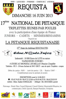 17ème National jeune de Réquista (le site internet)