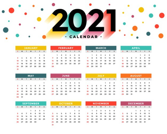 Mise à jour calendrier OCTOBRE 2021