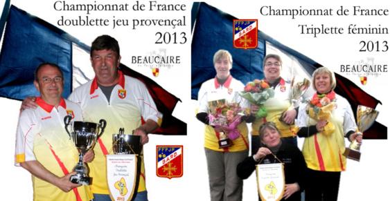 Championnat de France 11me triplette féminin et 36me doublette jeu provençal à Beaucaire (30) (màj10/09)