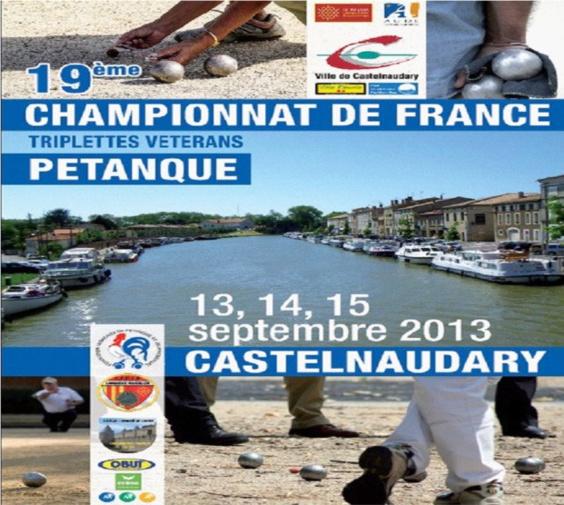 22me championnat de France triplette vétéran (màj13/09)
