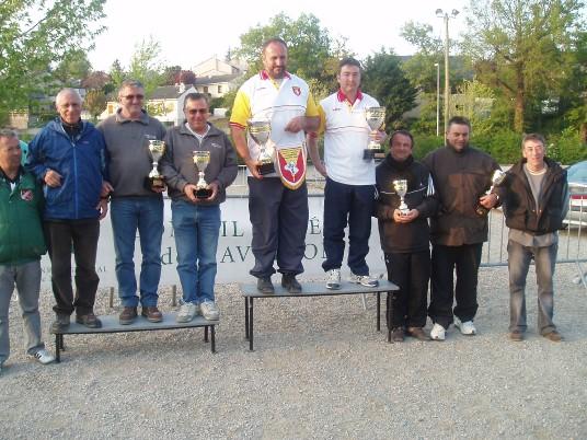 Le podium en seniors masculins