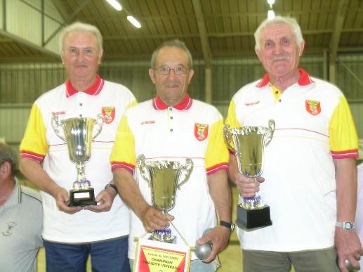 Henri Tesseire, Armando Baldo et René Lavabre les nouveaux champions vétérans