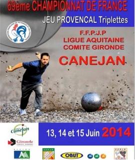 3ème Championnat de l'Aveyron triplette Jeu Provençal (màj18/05)