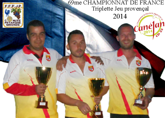 Christophe GRES / Florent MALLET / Stewe MARZIN (JP Livinhacoise)