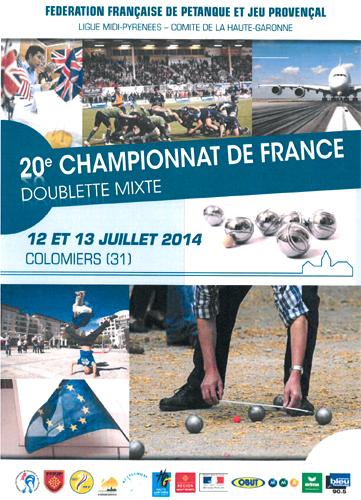 Championnat de France Doublette mixte (màj12/07)