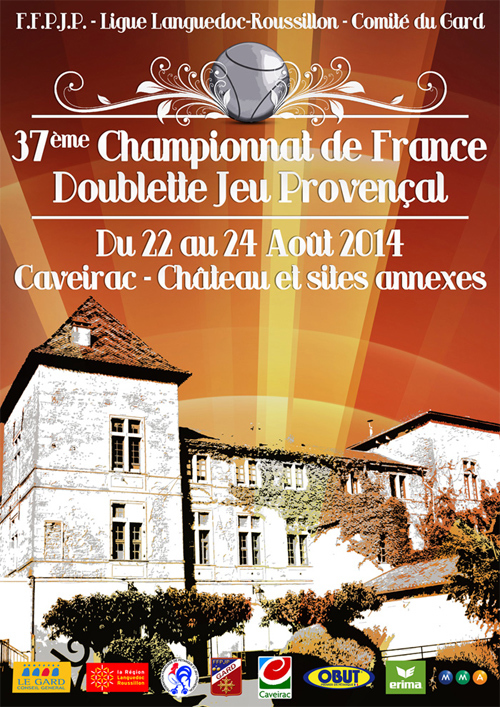 37me Championnat de France Doublette Jeu Provençal (màj20/08)