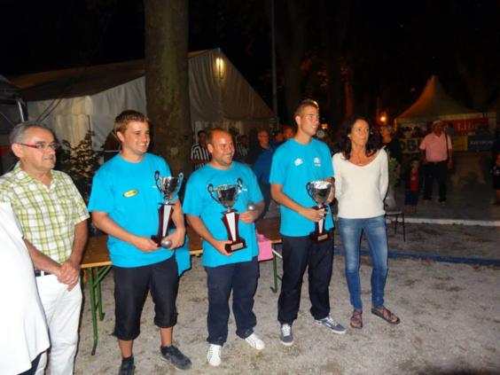 Romain Fournié, Stéphane Robineau et Dylan Rocher les vainqueurs!