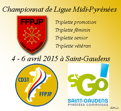 Championnats de Ligue 2015 St-Gaudens (maj06/04)