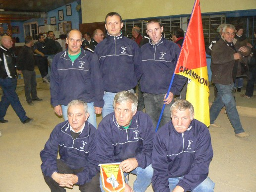 l'équipe de Sébazac PC I championne en Division 1