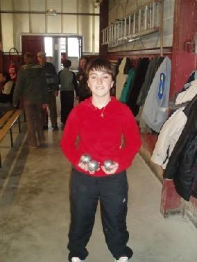 Caroline Leblond (Ste Radegonde), 15ans, meilleure féminine