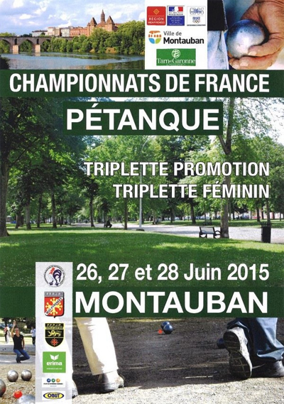 France Triplette Féminin et Triplette promotion (màj28/06)