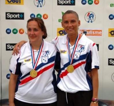 Les championnes de France 2008 : Florence Schopp et Angélique Papon (Ligue Auvergne)