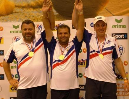 Les champions de France 2008 Philippe Quintais - henri Lacroix et Philippe Suchaud
