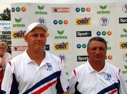 Les champions de France doublette 2008 Kévin Malbec et André Gross