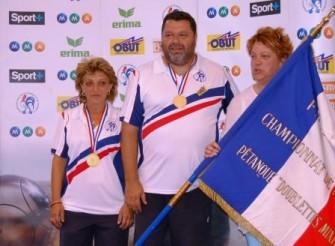 Anne-Marie Della-Pietra - Philippe Quintais (06) champions de France 2008