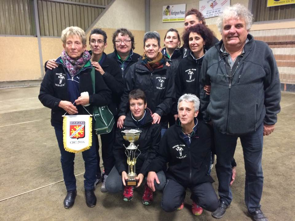 CRC Feminin les Sebazacoises Championnes de Ligue