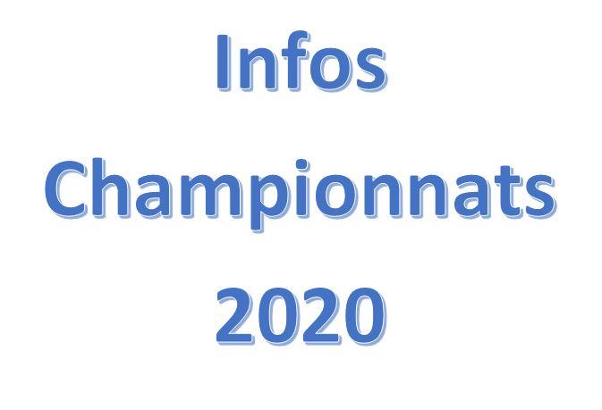 Info Championnats 2020