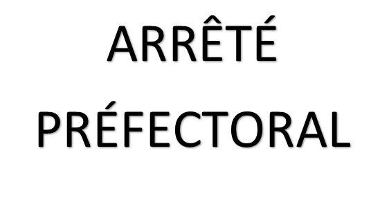Arrêté Prefectoral 25/09/2020