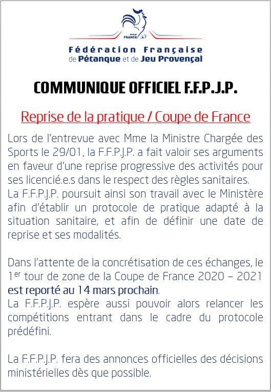 Coupe de France (Report 1er tour Zone)