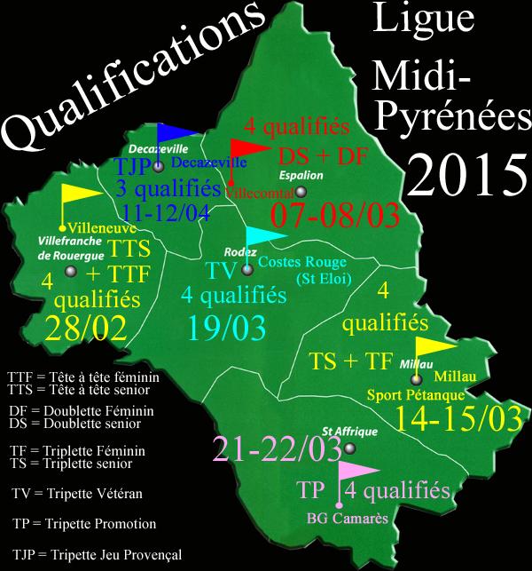 Qualifs Ligue Midi-Pyrénées 2015 (màj18/02)