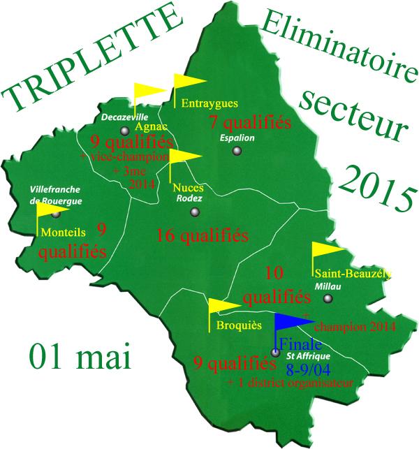 Eliminatoire triplette (màj01/05)
