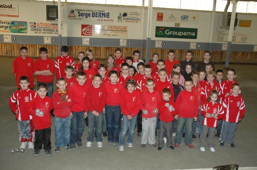 Championnat tête à tête jeunes du District de Rodez le 3 février 2008