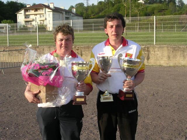Les champions Nathalie Bujna et Thierry Féres (JP Capdenac)