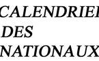 Les calendriers des nationaux