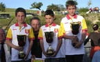 Championnat Aveyron finale triplette minimes les 13/14 mai 2006 au Nayrac