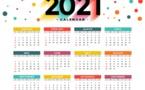 Mise à jour calendrier juillet 2021